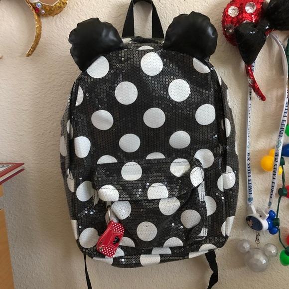 Disney Handbags - Disney Parks Sequin Polka Dot Mouse Backpack 653803c2206f4